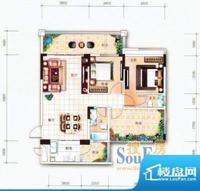 翡翠名苑1幢2梯05户面积:88.18m平米