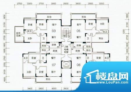 翡翠名苑1幢2梯标准面积:0.00m平米