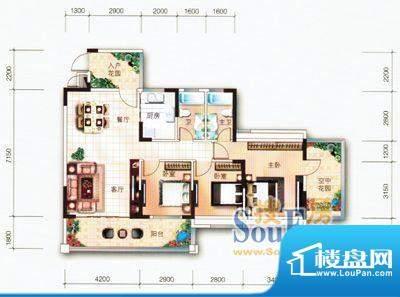翡翠名苑3幢1梯03户面积:110.49m平米