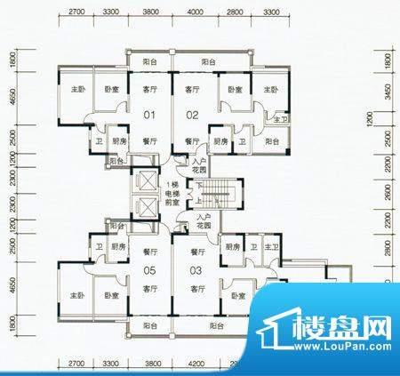 翡翠名苑3幢1梯标准面积:0.00m平米