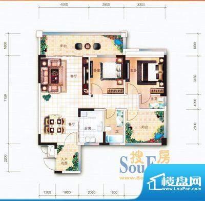 翡翠名苑3幢2梯07户面积:89.23m平米