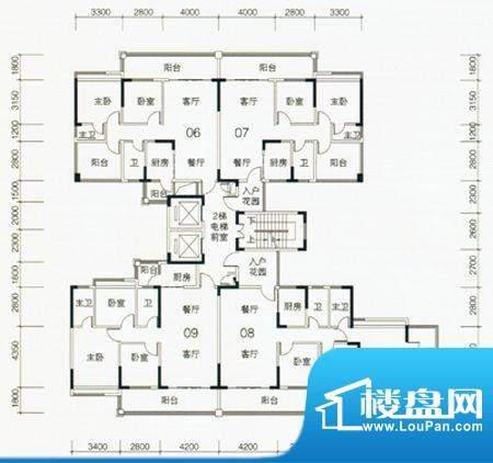 翡翠名苑3幢2梯标准面积:0.00m平米