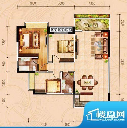 盈峰家园1-4座01单位面积:111.28m平米