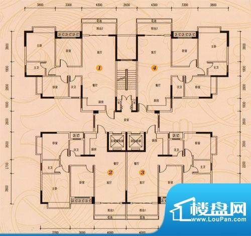 盈峰家园1-4座标准层面积:0.00m平米