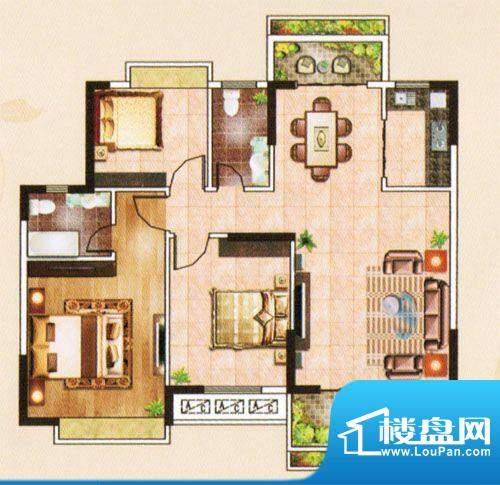 盈峰家园5-8座01单位面积:106.00m平米