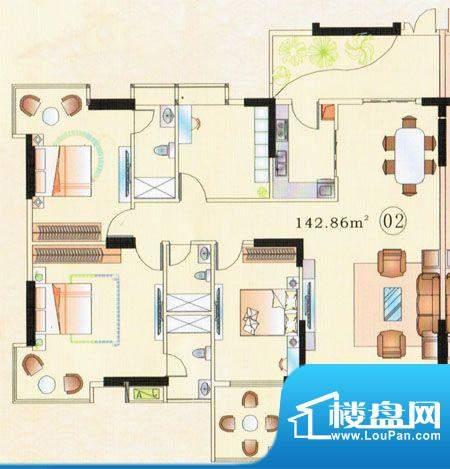 大唐盛世三期3幢02单面积:142.86m平米