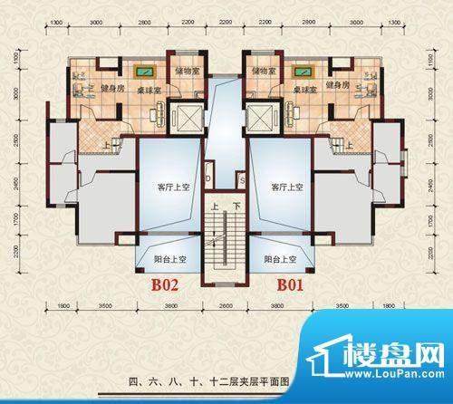 中源明珠5,6号楼B座面积:30.21m平米