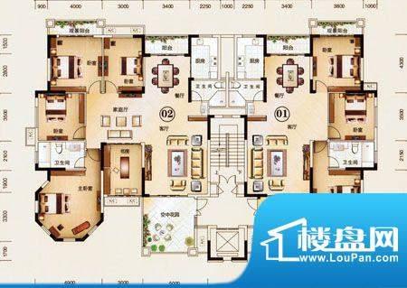 美华·天湖丽景3B座面积:0.00m平米