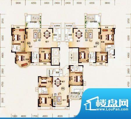 美华·天湖丽景1A座面积:0.00m平米