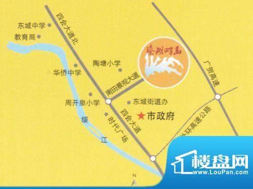 臻湖畔岛交通图