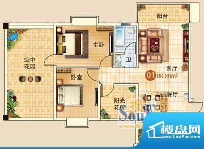 广信嘉园17栋标准01面积:0.00m平米