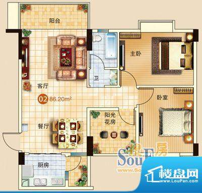 广信嘉园17栋标准02面积:0.00m平米