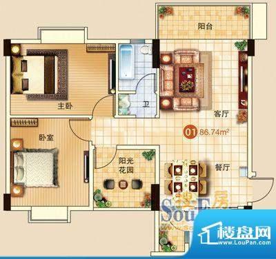 广信嘉园18栋标准01面积:0.00m平米