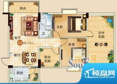 广信嘉园18栋标准02面积:0.00m平米