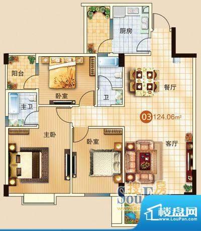 广信嘉园18栋标准03面积:0.00m平米