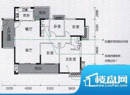 发现美院H系01户型 面积:139.20m平米