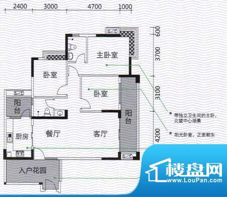发现美院H系05户型 面积:118.40m平米