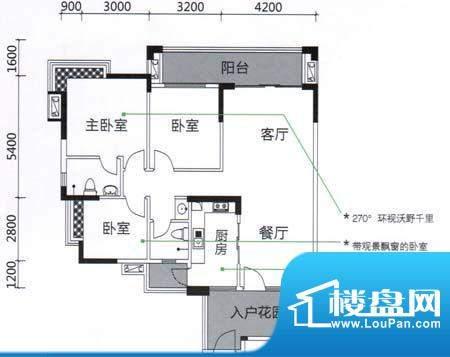 发现美院H系04户型 面积:122.10m平米