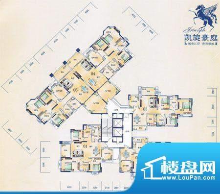 凯旋豪庭T3栋2至21层面积:0.00m平米