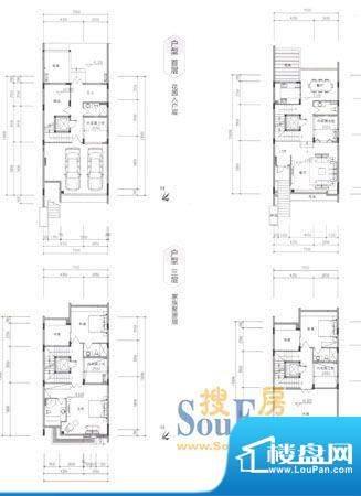 六合台D1 3室3厅5卫面积:301.00m平米