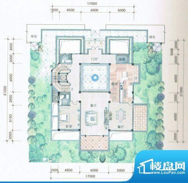 侨兴·鼎湖御品A户型面积:238.00m平米