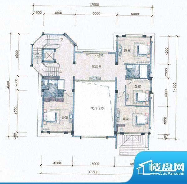 侨兴·鼎湖御品A户型面积:174.00m平米