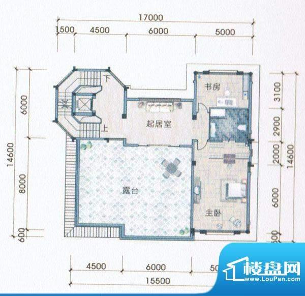 侨兴·鼎湖御品A户型面积:165.00m平米