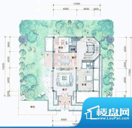 侨兴·鼎湖御品B户型面积:166.00m平米