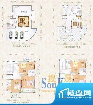 尚德园B2型别墅平面面积:0.00m平米