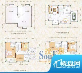 尚德园G型别墅平面示面积:0.00m平米