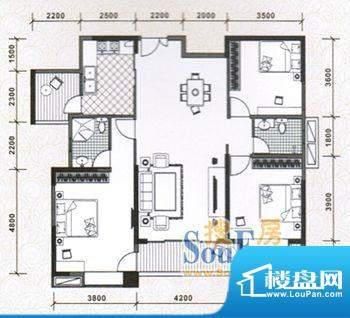 水木天骄6A户型图 3面积:0.00m平米