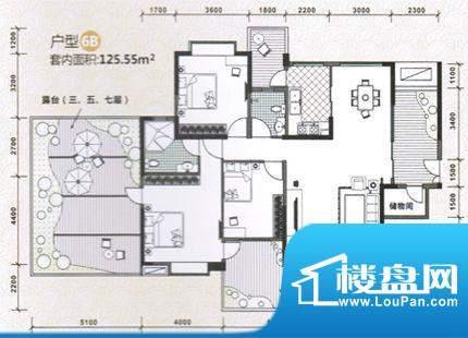 水木天骄6B户型图 3面积:0.00m平米