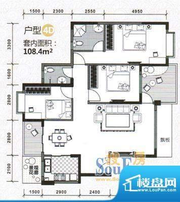 水木天骄4D户型图 3面积:0.00m平米