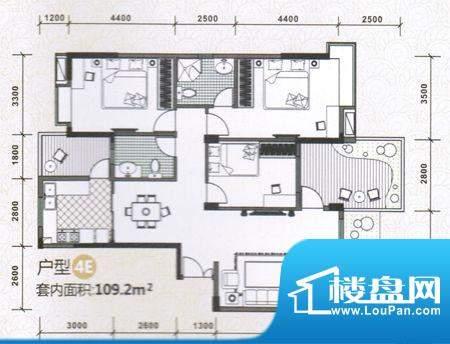 水木天骄4E户型图 3面积:0.00m平米
