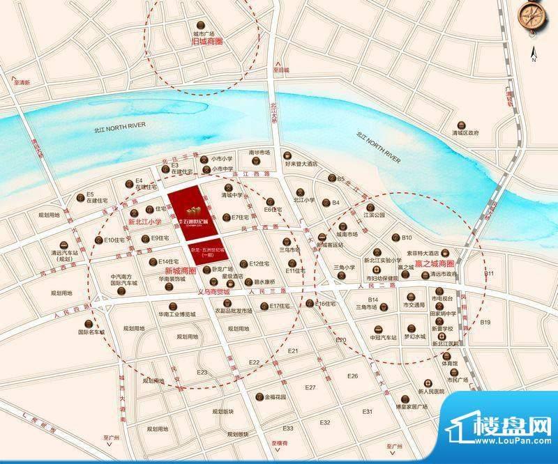 卧龙五洲世纪城交通图