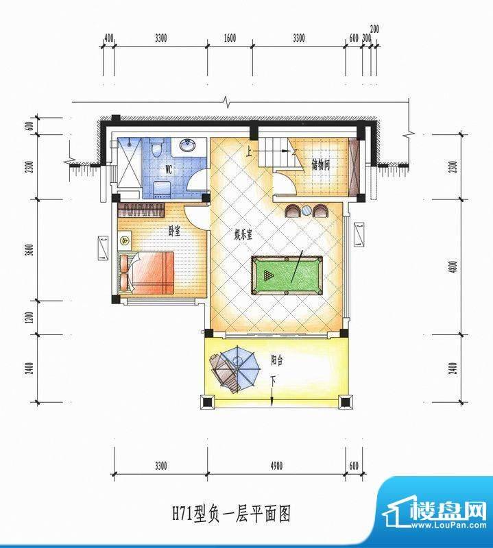 碧桂园清泉城H71型负面积:0.00m平米