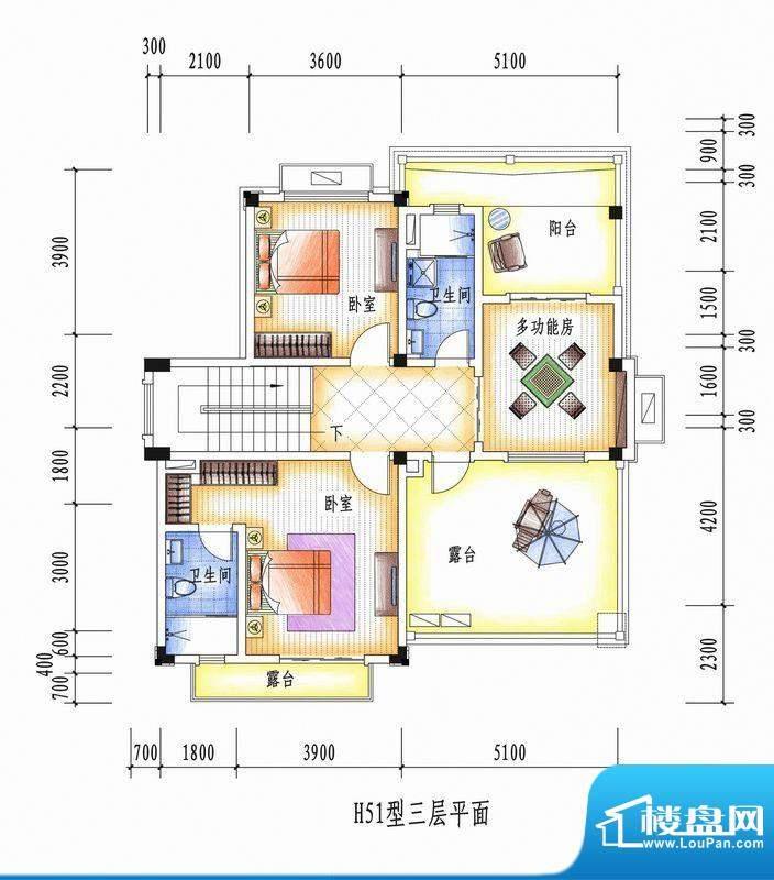 碧桂园清泉城H51三层面积:0.00m平米