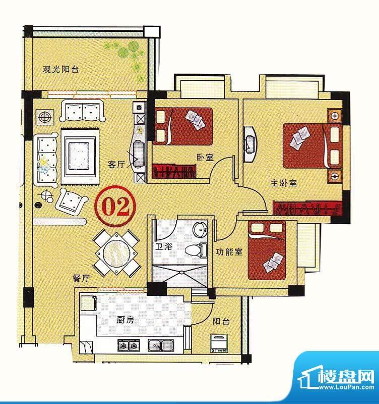 大丰豪庭二期4楼B栋面积:93.77m平米