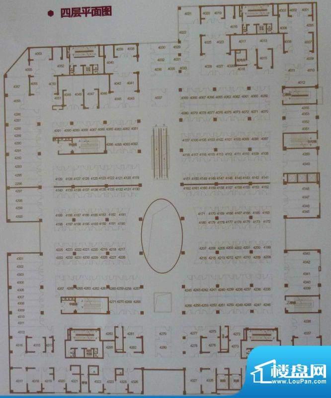 中环国际广场四层平面积:0.00平米