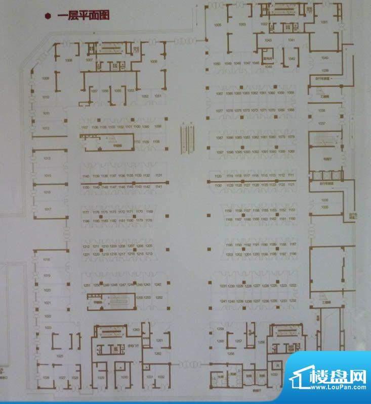 中环国际广场一层平面积:0.00平米