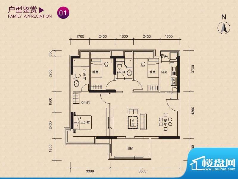 新世纪广场A/B/C/D/面积:91.00m平米