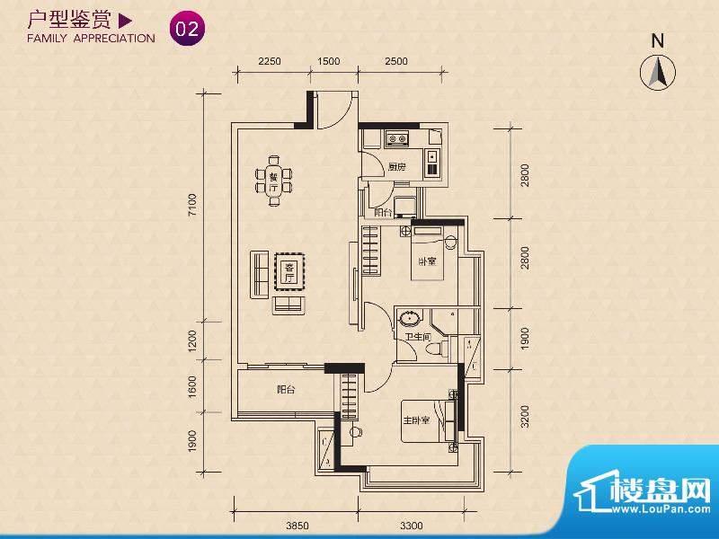 新世纪广场F/G栋02户面积:108.00m平米