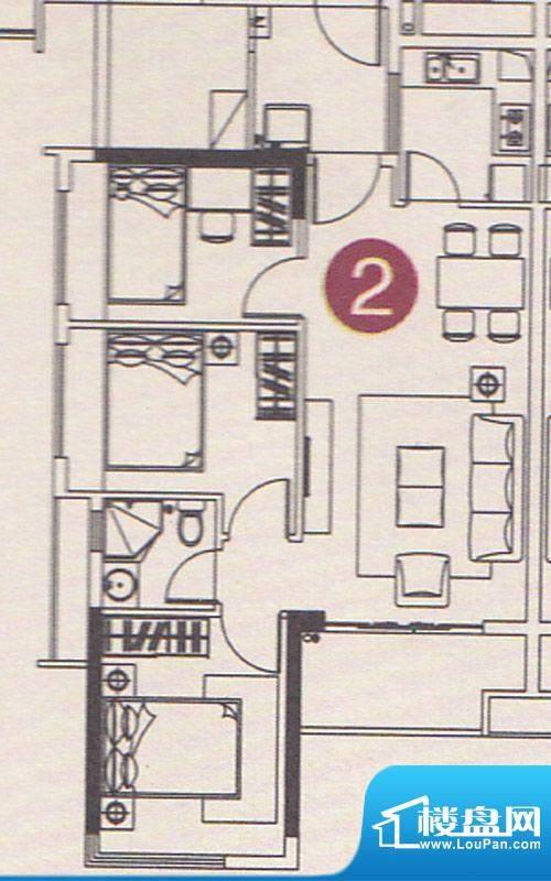 北部万科城二期B37-面积:79.00m平米