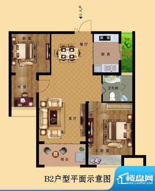 中南世纪城B2 3室2厅面积:0.00平米