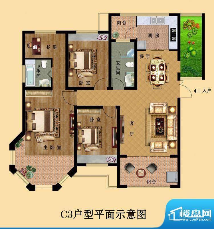 中南世纪城C3 4室2厅面积:0.00平米