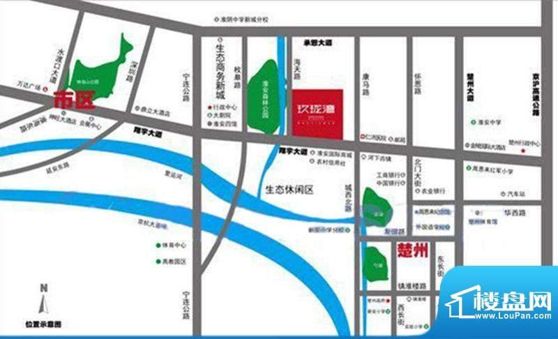 建华玖珑湾交通图