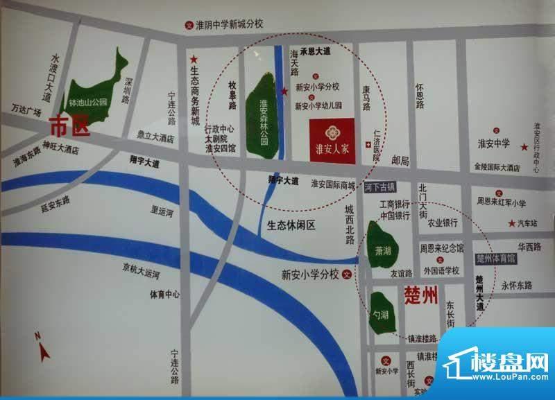 淮安人家区位图