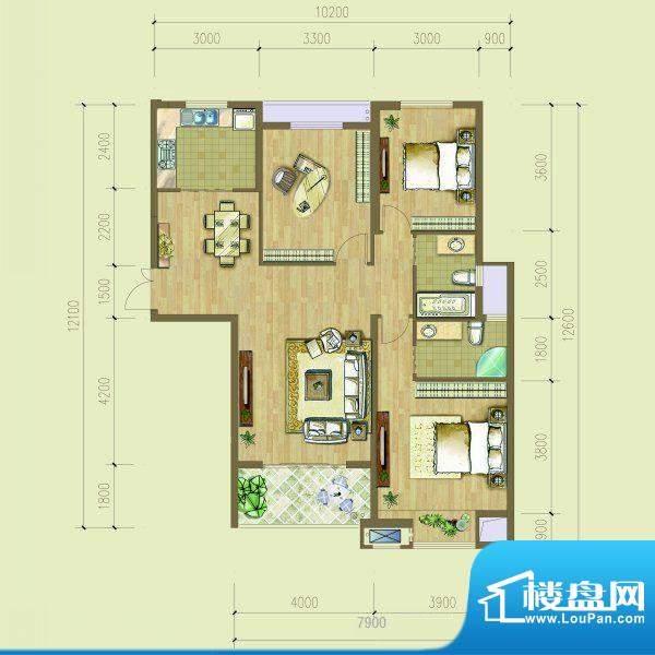 融侨华府123平米户型面积:123.00平米