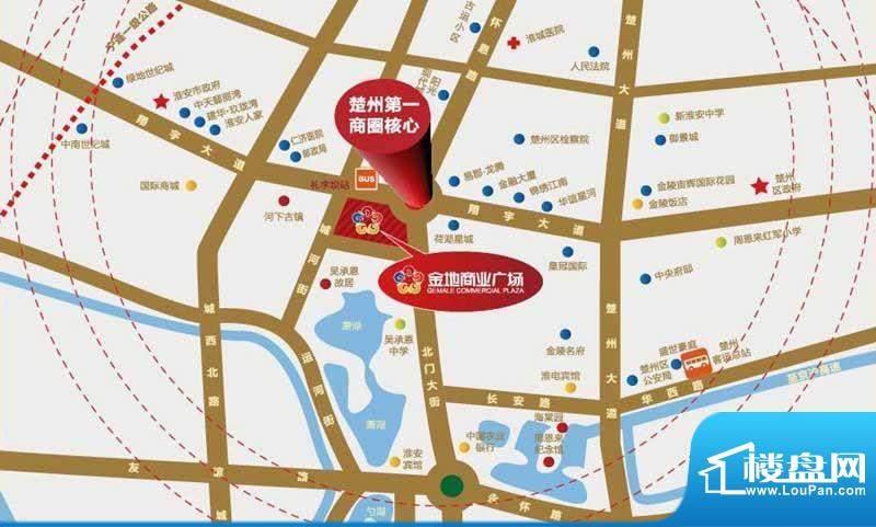 金地商业广场交通图