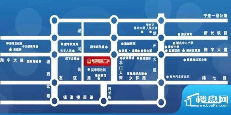 金地商业广场区位图